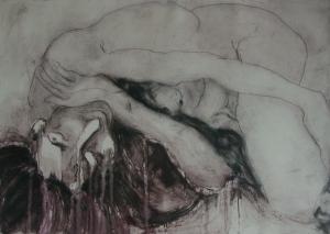 Woman Lying (65cm x 45cm) Etching