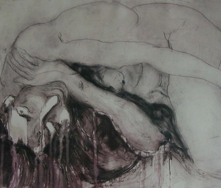 Woman Lying (65cm x 45cm)